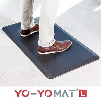 Yo-Yo MAT | confort maximal position debout | Tapis Anti-Fatigue Travail  Debout Tapis Confort Anti-dérapant dans la Cuisine | 92cm x 52cm, Noir
