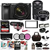 Sony a6500 Mirrorless Camera with 18-135mm f/3.5-5.6, SEL55210B and SELP1650 Lens