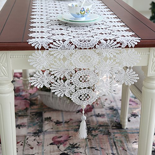 European Style Lace Openwork Table Table Runner Coffee Table Flag Simple White Princess Decorated Long Table Runner A 40x250cm 16x98inch Buy Online In Dominica At Dominica Desertcart Com Productid 65978624