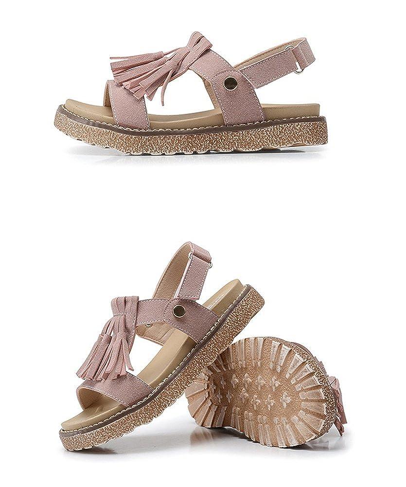Mubeuo Leather Anti-Skid Fashion Outdoor Girls Sandals