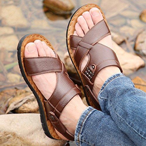 Perizoma 38 Pantofole Da Yellow2 Pelle Da Nuoto Infradito Open 47 Toes Scarpe Size Uomo Spiaggia Vera Estive Plus Sandali pOqxa00