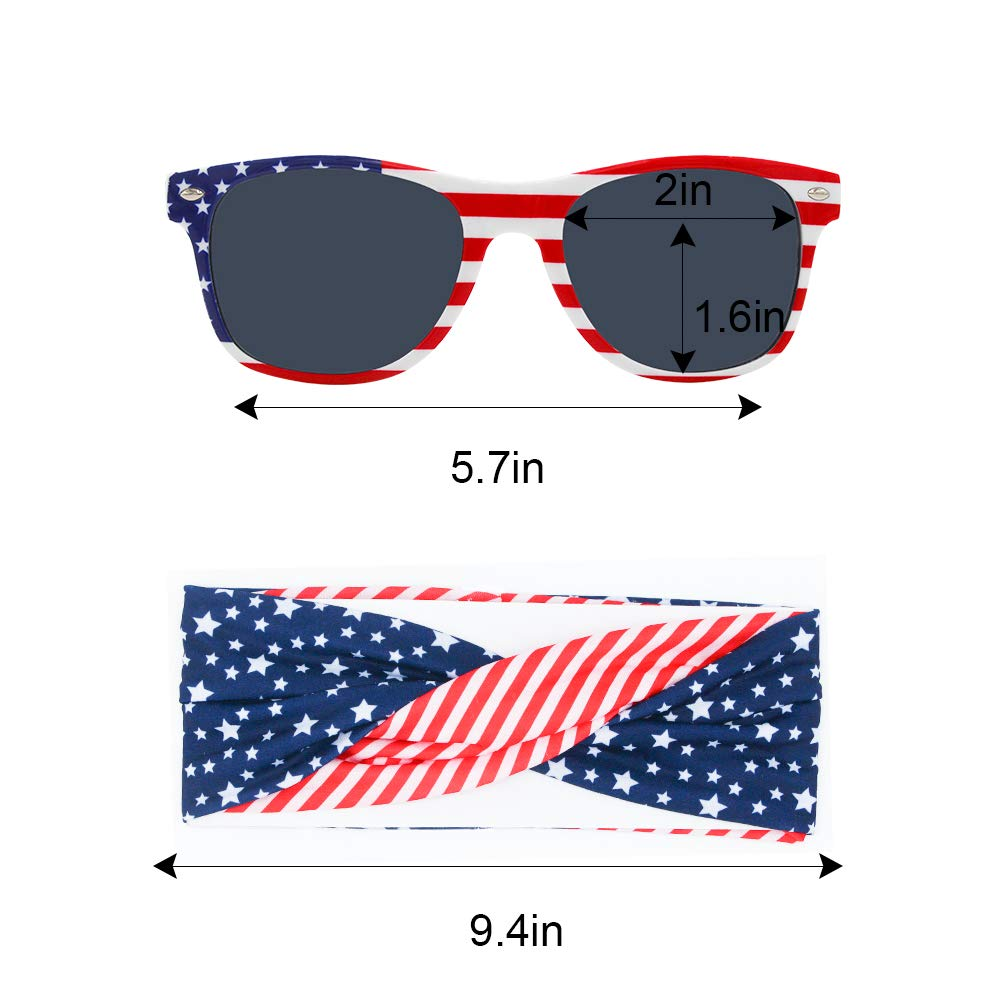 American Flag Headband Sports Headbands Wicking Fabric Keep Headband Securely in Place for Exercise, Running, Crossfit, Yoga