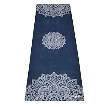 Diseño de yoga: esterilla de yoga 2 en 1 + toalla ligera, plegable,