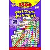 Trend T1945 SuperSpots & SuperShapes Sticker Variety Packs, Positive Praisers, 2,500/Pack (TEPT1945)