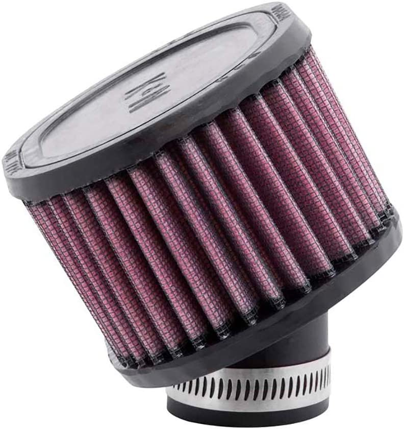 K&N R-0990 Universal Clamp-On Air Filter: Oval Straight; 1.875 in (48 mm) Flange ID; 3 in (76 mm) Height; 6.125 in x 3.875 in (156 mm x 98 mm) Base; 6.125 in x 3.875 in (156 mm x 98 mm) Top