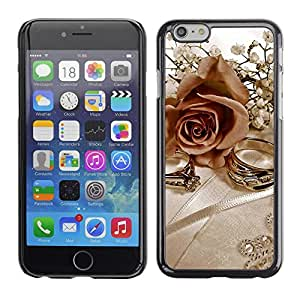 LECELL -- Funda protectora / Cubierta / Piel For Apple iPhone 6 -- Rings and Roses --