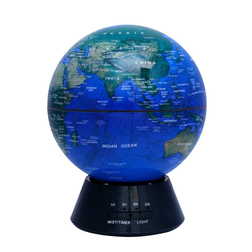 Weltkarte Globus Glühende Weltkugel, 3-in-1 Erdkugel und Konstellation Eingebaute LED-Beleuchtung Nachtszene Leise Schlafzimmer Ultraschall-Luftreiniger Bildung Weltkugel Geschenk Familie Schreibtisch