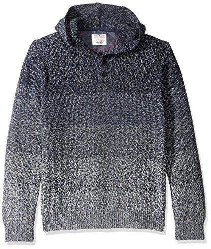 Lucky Brand Men's Relaxed Ombre Hoodley, Blue Ombre, X-Large by Lucky Brand