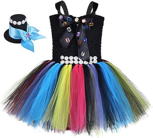 Azly-Cloth Vestido de tutú de joyería Colorida de Halloween para ...