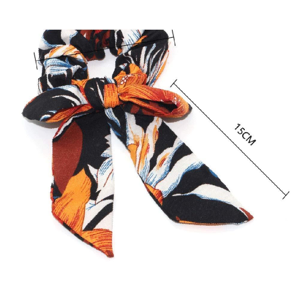 Kanggest de Pelo Scrunchies Bandas del Pelo Flores Bandas el/ásticas para el Pelo Bufandas Bowknot Vintage Pa/ñuelo para Mujer para Mujeres y ni/ñas Accesorios para el Cabello-Amarillo