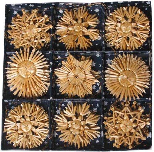 Straw Ornament Assortment - 36 pc