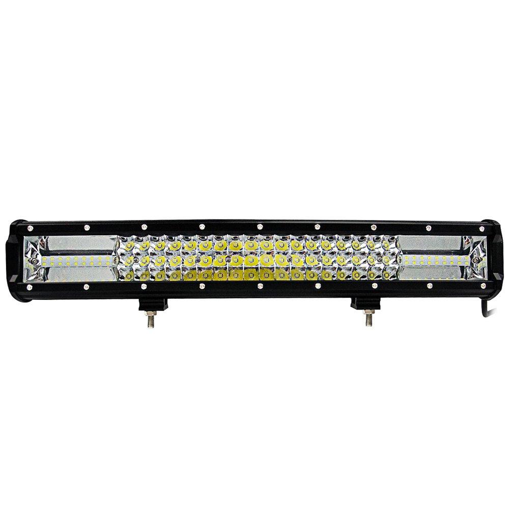 Lixada Auto Zusatzscheinwerfer Scheinwerfer/SUV Combo Licht, IP68 Wasserdicht/Quakeproof und Staubdicht.(12in 324W/16in 432W/20in 540W)
