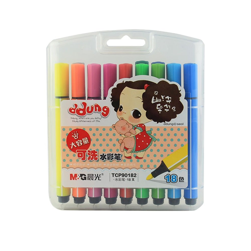 18 Watercolor Pens for Painting, Painting, coloring, Etc, Graffiti Pens, Multicolor Toy Pens