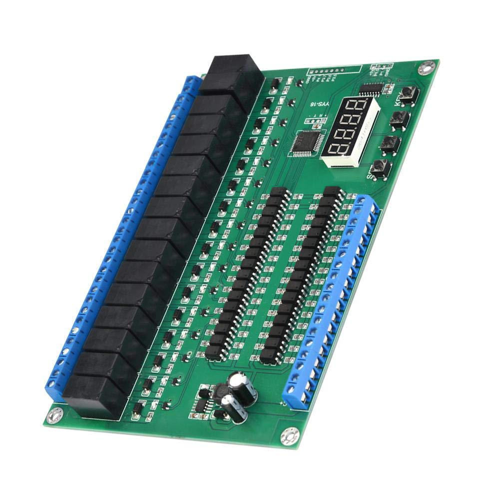 Motoren und Lichtgurten Ziffernanzeige SPS//Selbsthaltende Relaismodul Relaiskarte EIN//AUS mit 16-Kanal Programmierbares Relais zur Steuerung von Magnetventilen Pumpen YYS-16 Relais Steuermodul