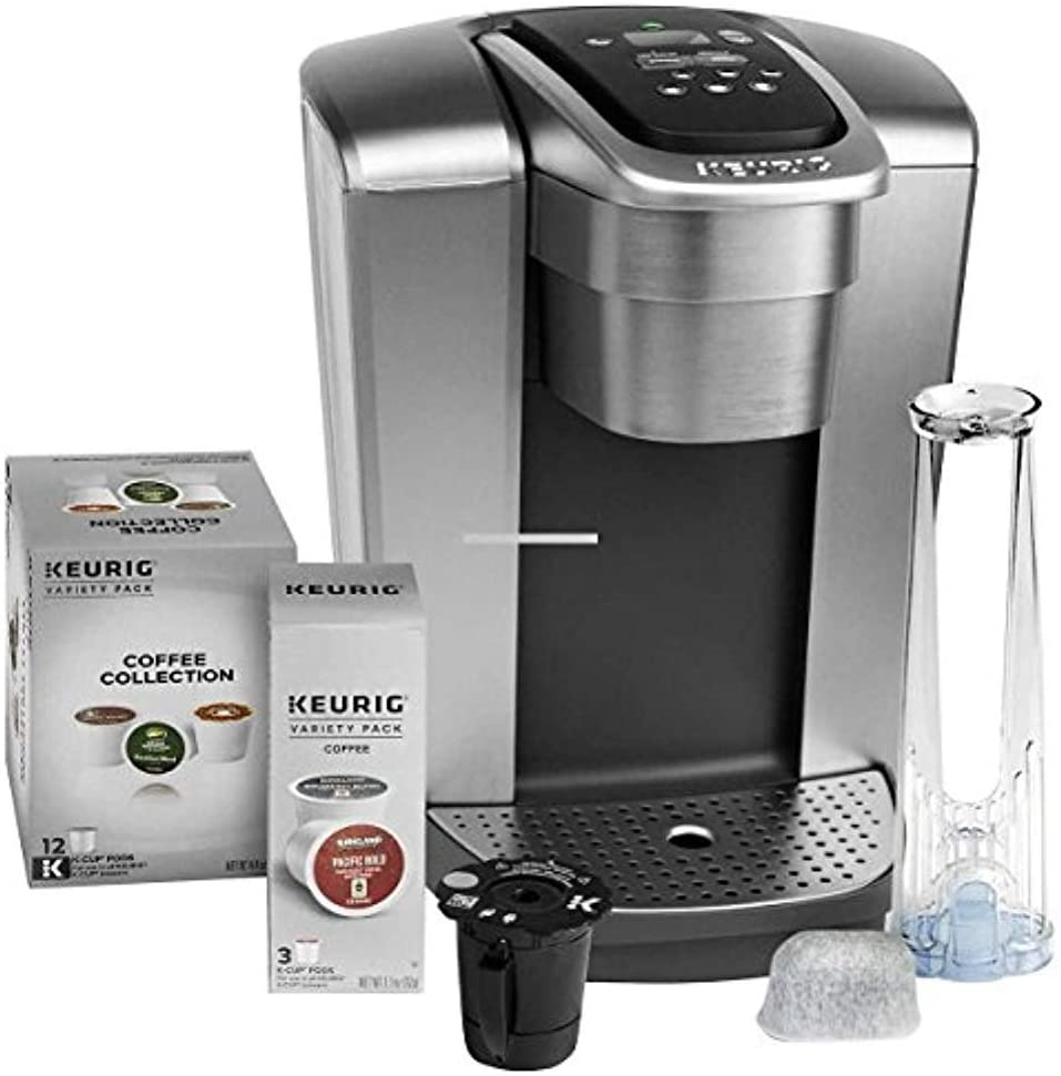 Keurig Fil K-Elite C Single Serve Coffee Maker Brushed Silver with 15, Water Filter, and My K-Cup, 2