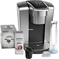 Keurig K-Elite C Single Serve Coffee Maker (Brushed Silver), Water Filter, and My K-Cup