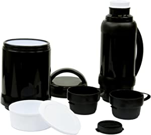 6 Pc Outdoor Food and Beverage Picnic Set - Hot and Cold Thermal Food Carrying Lunch Jar