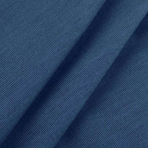 Playa Color de Delgado de Chaleco moda noche Mujeres Casual Cuello redondo puro de Partes marino Vestido Sin Adeshop Azul Longitud mangas Verano rodilla Vestido ajustadas elegante Vendaje Falda 7PwvxSTq