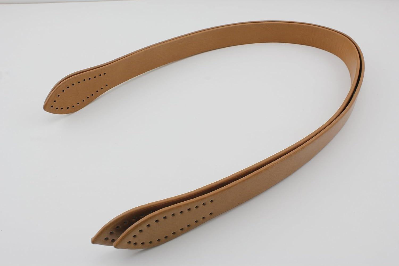60cm, aus Kunstleder, Geldbörse, Handtasche, für Geldbörse, Tasche, zum Aufnähen, Griff-Ersatz, 1Paar (2Stück) Dark brown-B 60cm Geldbörse für Geldbörse zum Aufnähen
