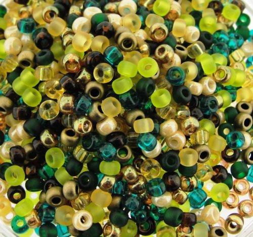 Miyuki Round Seed Beads Size 8/0 22g Earthtones Mix