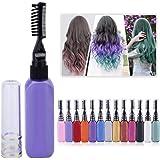 15ml Temporary Non-toxic Color Hair Dye Unisex Fancy Dress Makeup DIY Hair Mascara Brush Comb Set