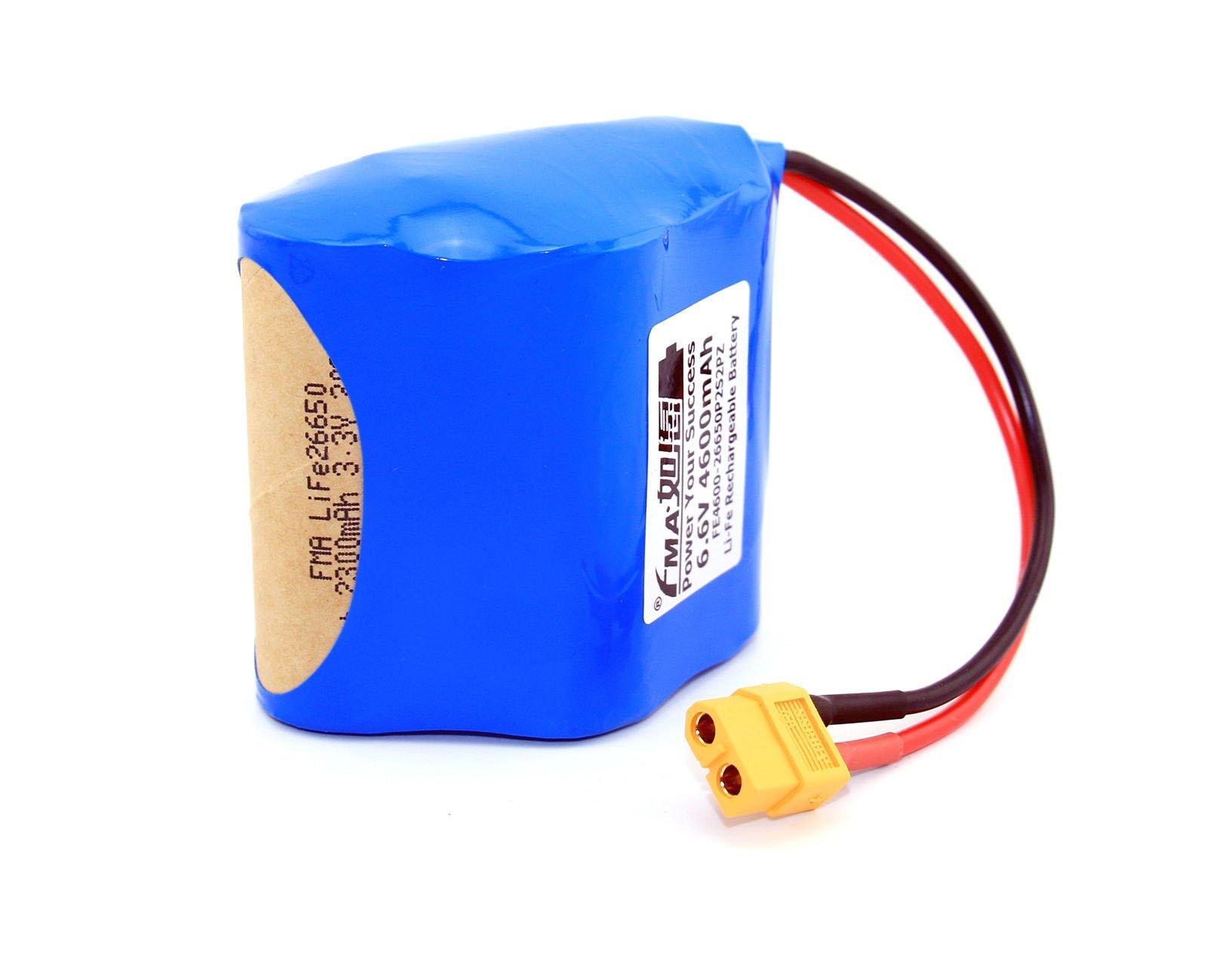 Life Deer Game Feeder Battery 6.6V 4.6Ah Like Sealed Lead Acid 6V Cell 2S2Pz