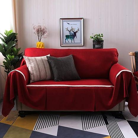 MSM Sala de Estar Color sólido Funda para sofá ...