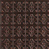Gothic Reims-Faux Tin Ceiling Tile - Antique Copper 25-Pack