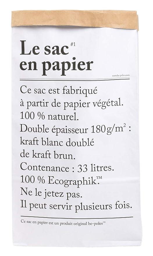 766fd240e LE Sac EN Papier The Paper Bag 33L Papel de Almacenamiento Bag Kraft!! Paper
