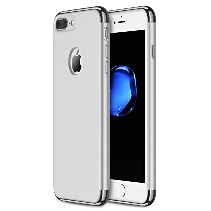 apple iphone 7 plus silver. iphone 7 plus case ranvoo stylish thin hard slim fit with 3 detachable parts for apple iphone silver l