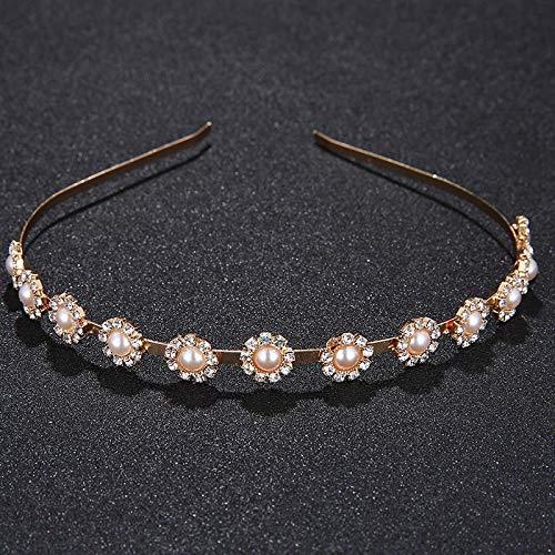 Headwear Headband For Wedding Leaves Crystal Crown Headwear Headdress For Women Bridal Hair Accessories Rim For Hair TS-J1546 Gold]()