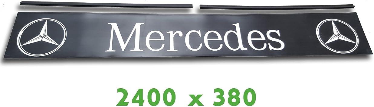 Trupa Heckschürze 2400 X 380 Mm Befestigungsschienen Mercedes Lkw Anhänger Auflieger Auto