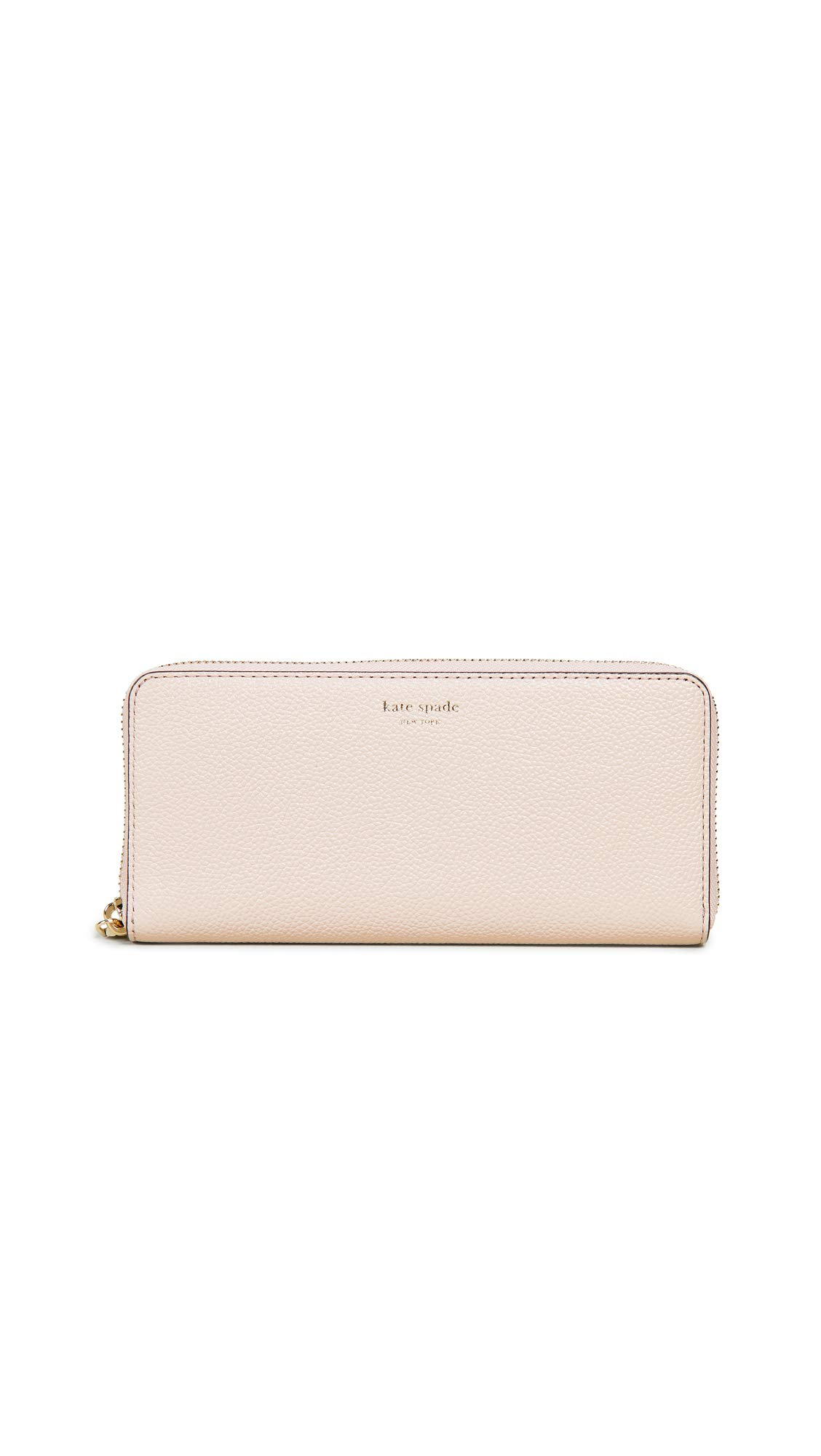 Kate Spade New York Women's Margaux Slim Continental Wallet, Pale Vellum, Pink, Off White, One Size