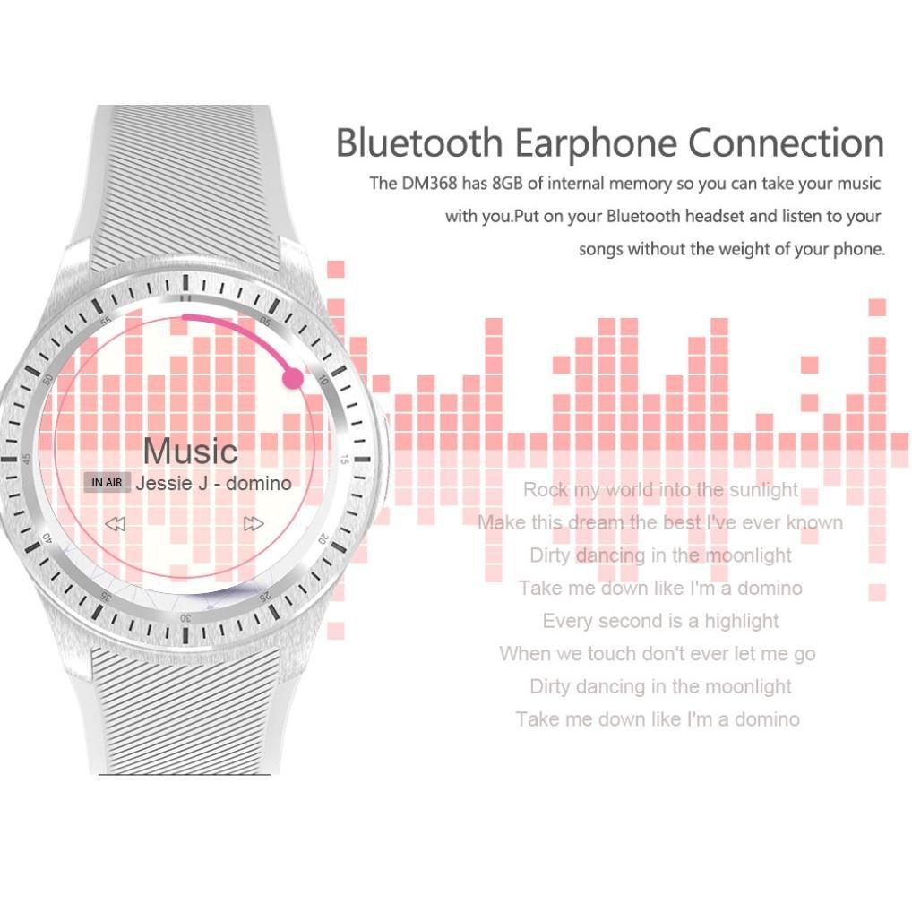 Bluetooth reloj inteligente, Kaiki DM368 Andorid 5.1 IOS ...