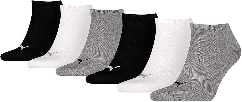 Puma unisex Sneaker Socken Kurzsocken Sportsocken 261080001 6 Paar Gr/ö/ße:35-38 Farbe:Mehrfarbig Artikel:-882 grey//white//black 2 x 3er Pack Menge:6 Paar