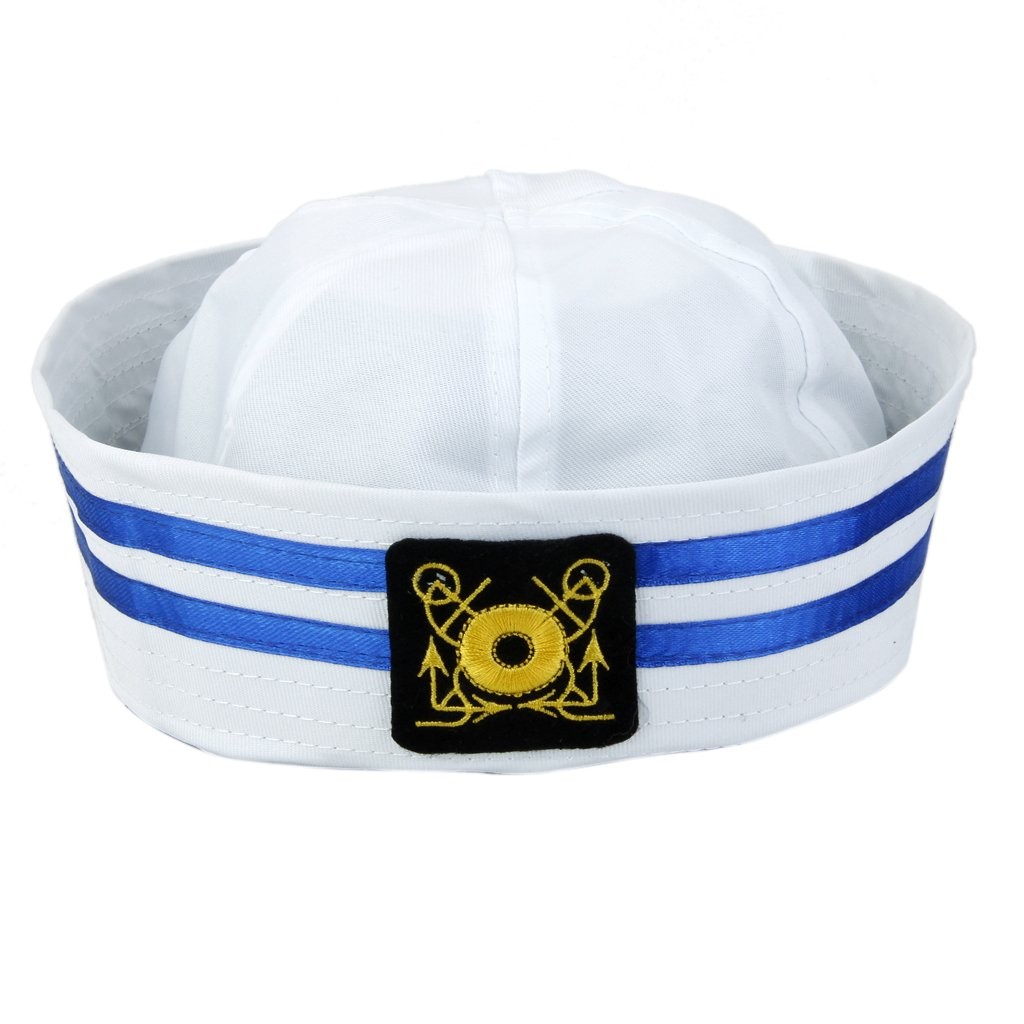 Adults Yacht Boat Captain Sailor Hat Skipper Navy Marine Cap Costume Party Dress Generic