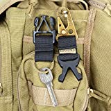 DYZD Tactical Gear Keychain Clip 100% Nylon Belt