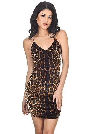 f7e6e04fa244d AX Paris Women's Animal Print Strappy Dress at Amazon Women's Clothing store :