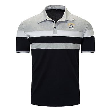 Hanglin Trade Summer Men Polo Shirt Embroidered T Shirt Fashion