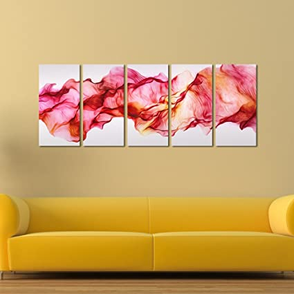 Buy Craftter Pink & White Modern Metal Wall Art, Abstract Metal Wall ...