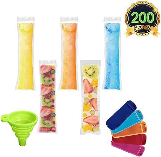 Compra AUTOPkio 200 piezas Bolsas para helados de paletas de hielo ...