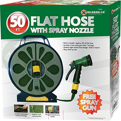 FLAT HOSE WITH SPRAY NOZZLE MARKSMAN