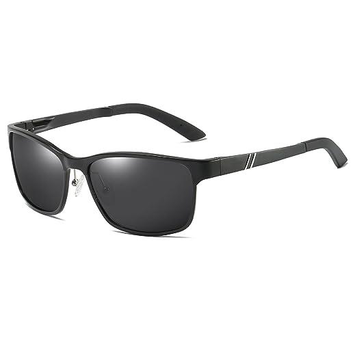 d9b01e4bdb Polarized Sunglasses Wayfarer Al-Mg Metal Frame for Driving Fishing Golf  Lightweight Durable 60mm Large