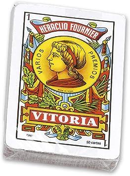 Fournier-Nº12 Baraja española de 50 Cartas empaquetada en celofán, Multicolor (20992): Amazon.es: Juguetes y juegos