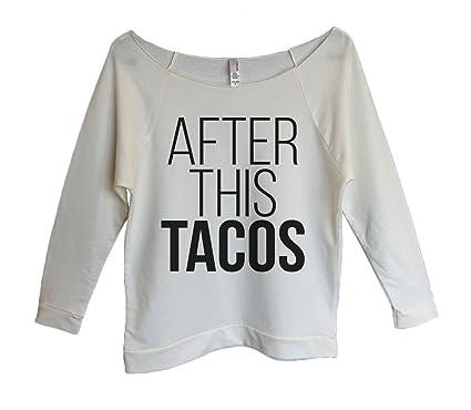 "9f77c9de0 Womens Terry Raglan ""After This Tacos"" Taco Sweat Shirt Gift-  Funny Threadz"