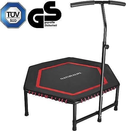 Griff Mini Sport Trampolin Gummiseil Leise 135kg DE Jumping Fitness Trampolin m