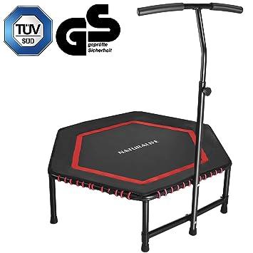 NATURALIFE Mini trampolín Fitness con Manillar, Cama elástica Fitness de 106 cm/42 Pulgadas para Ejercicio Corporal y Ejercicios cardiovasculares, ...