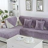 Z&HX-Sand Release/Sofa cushion/Bay Window Cushion,Carpet/Simple And Modern Non-slip Sofa Towel/Plush Sofa Towel/Cover,European Style,Sofa Towel, purple, 70150cm