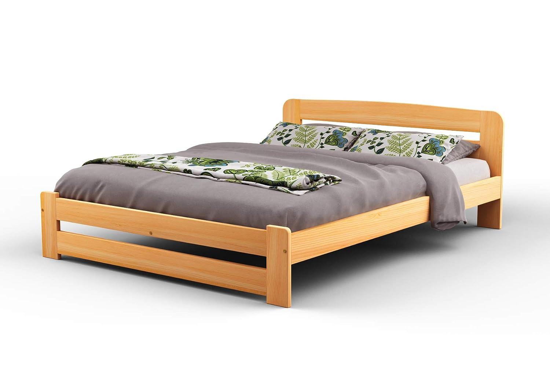 New King Size Solid Wooden BedframeF1 with slats 5ft, walnut