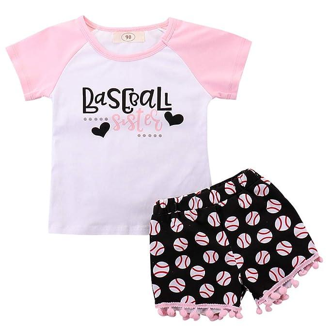 Amazon.com: Conjunto de ropa de bebé para niña con estampado ...
